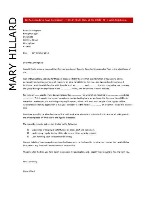 23 Stunning Security Cover Letter for Design