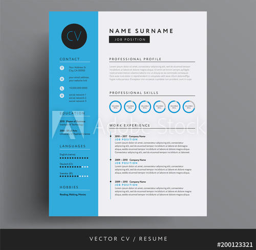 24 Beautiful Modern Curriculum Vitae by Graphics