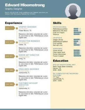 24 Cool Free 1 Page Resume Template by Ideas
