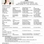 24 Cool One Page Resume Format For Freshers for Gallery