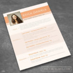 24 Great Colorful Resume Templates Free Download with Images