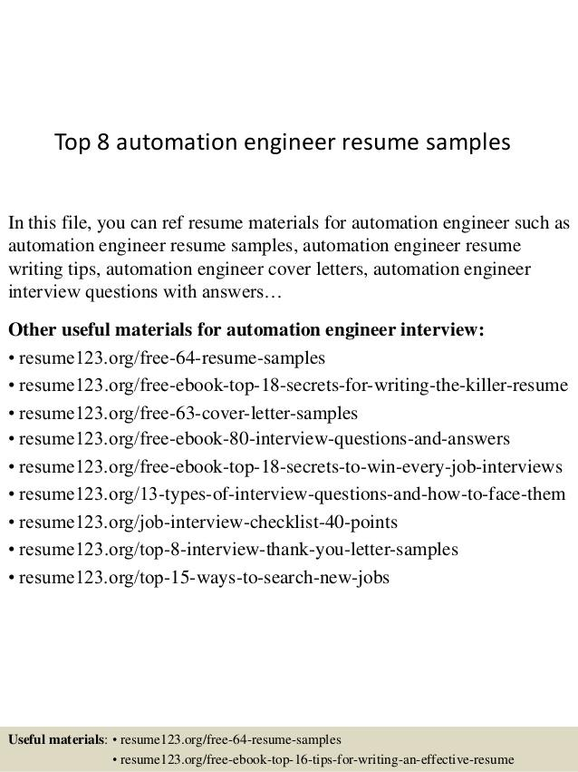 24 Inspirational Automation Engineer Resume with Pics