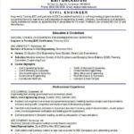 24 Inspirational Civil Engineer Resume by Ideas