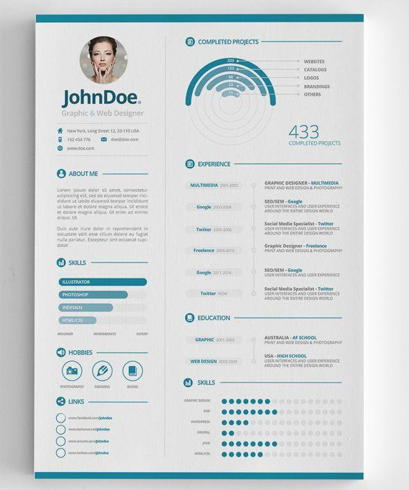 24 New Graphic Resume Template with Pictures