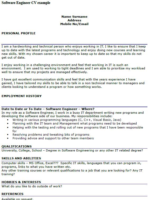 24 Stunning Cv Format For Software Engineer for Graphics