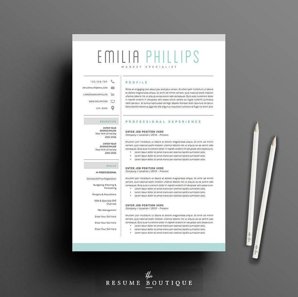 24 Stunning Free Creative Resume Templates Microsoft Word for Images