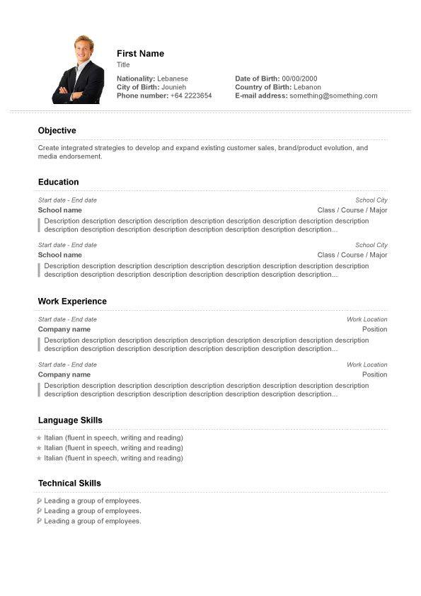 24 Stunning Free Cv Resume Builder by Images