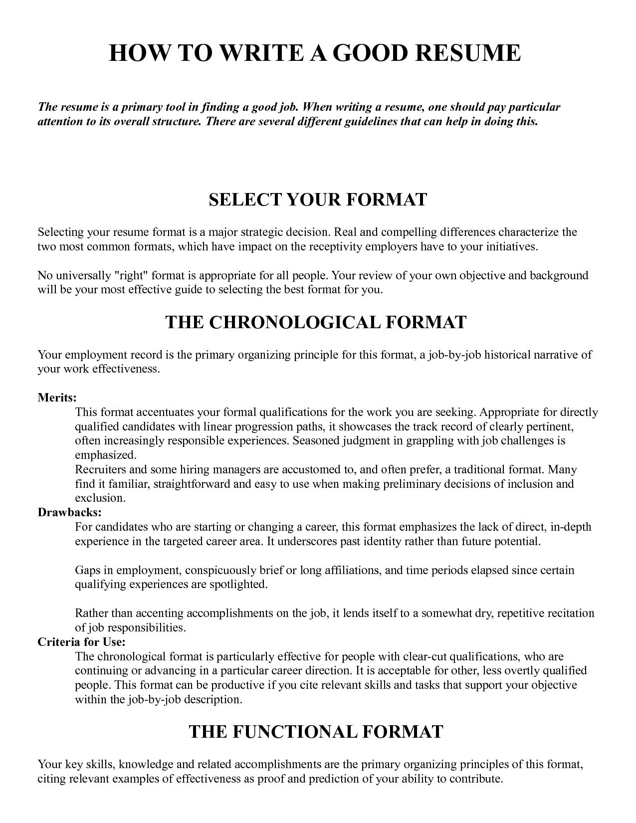 25 Awesome Sample Of A Good Resume Format with Pics