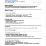 25 Lovely One Page Resume Format For Freshers with Pics