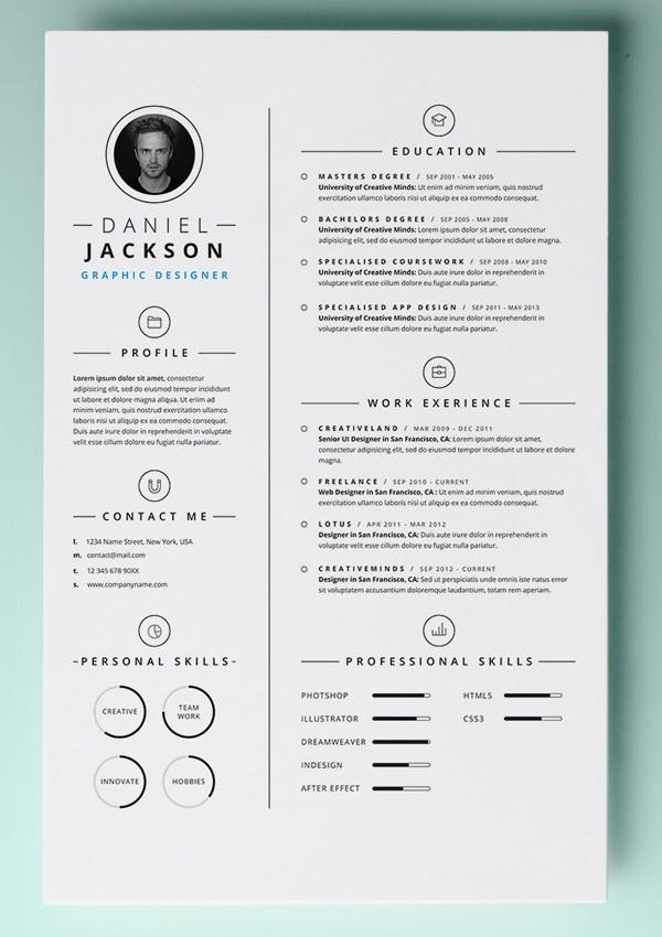 25 Stunning Free Pages Resume Templates for Pics