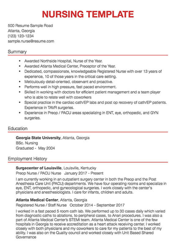 27 Awesome Sample Resume Format for Images
