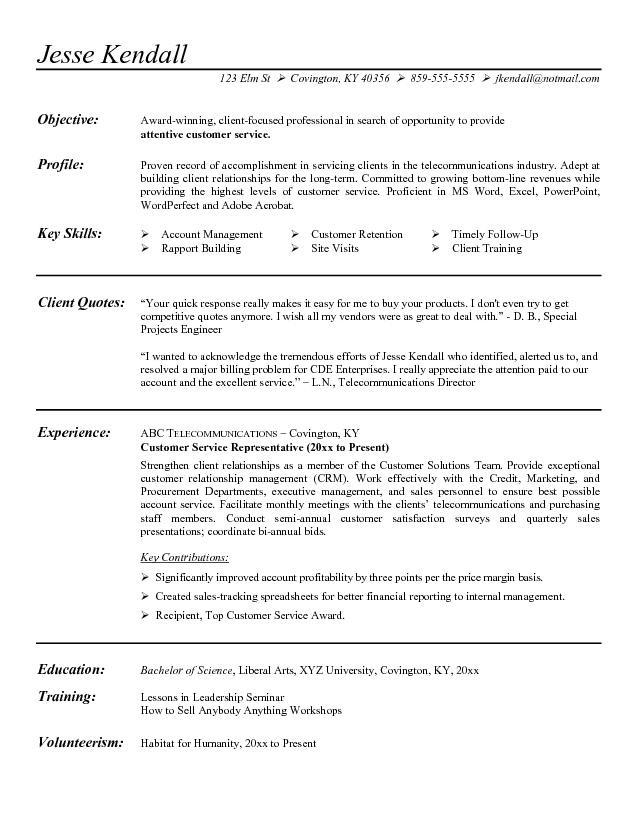 27 Great Customer Service Resume Objective Or Summary Examples with Graphics