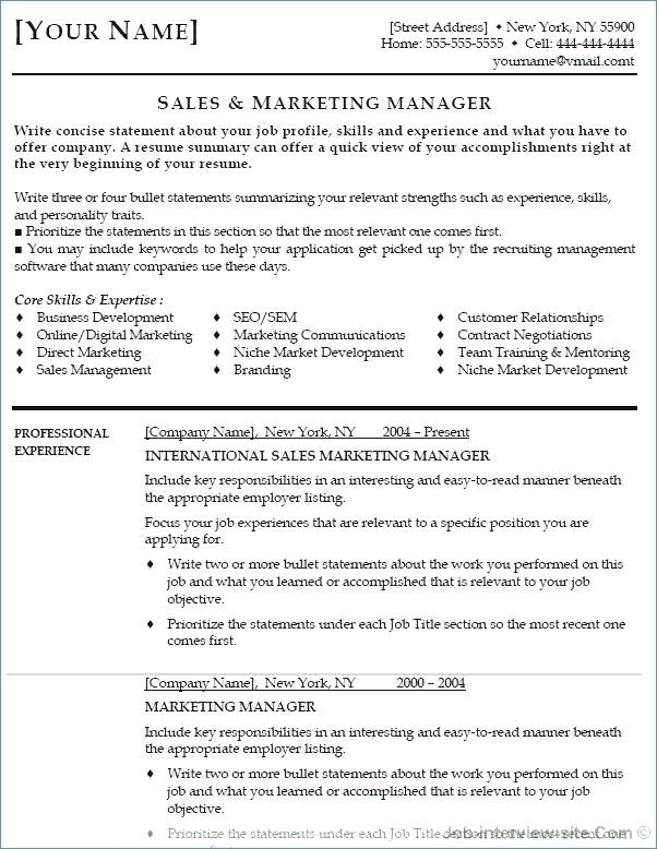 27 Inspirational Entry Level Marketing Resume by Pictures