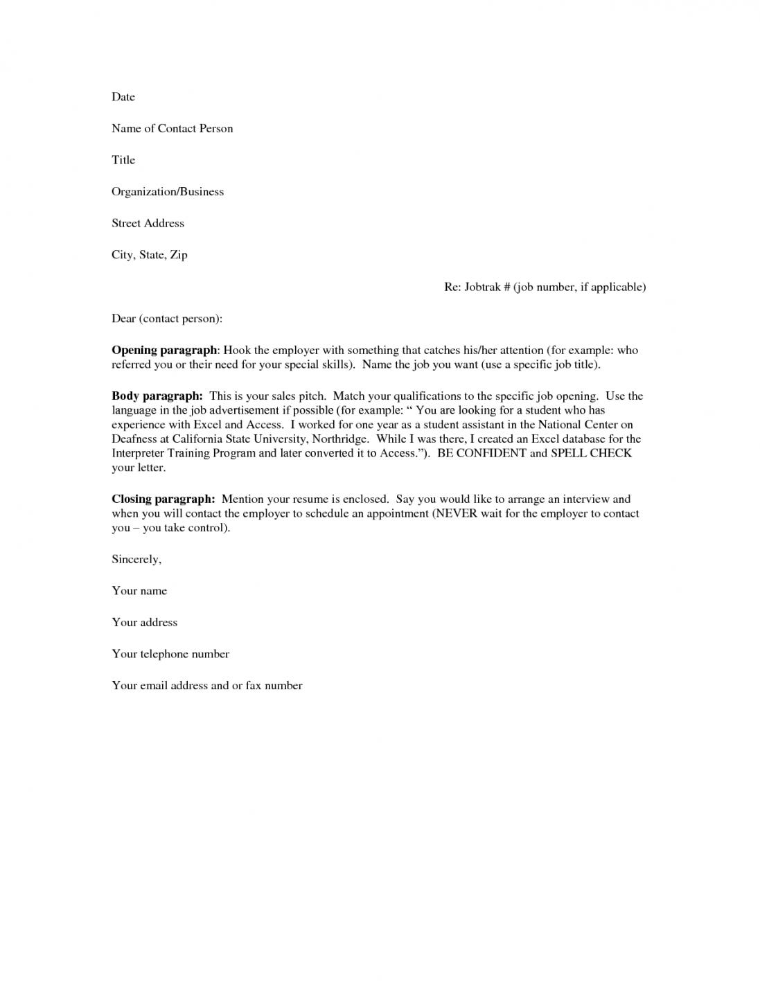 27 Inspirational Free Cover Letter Examples for Pics