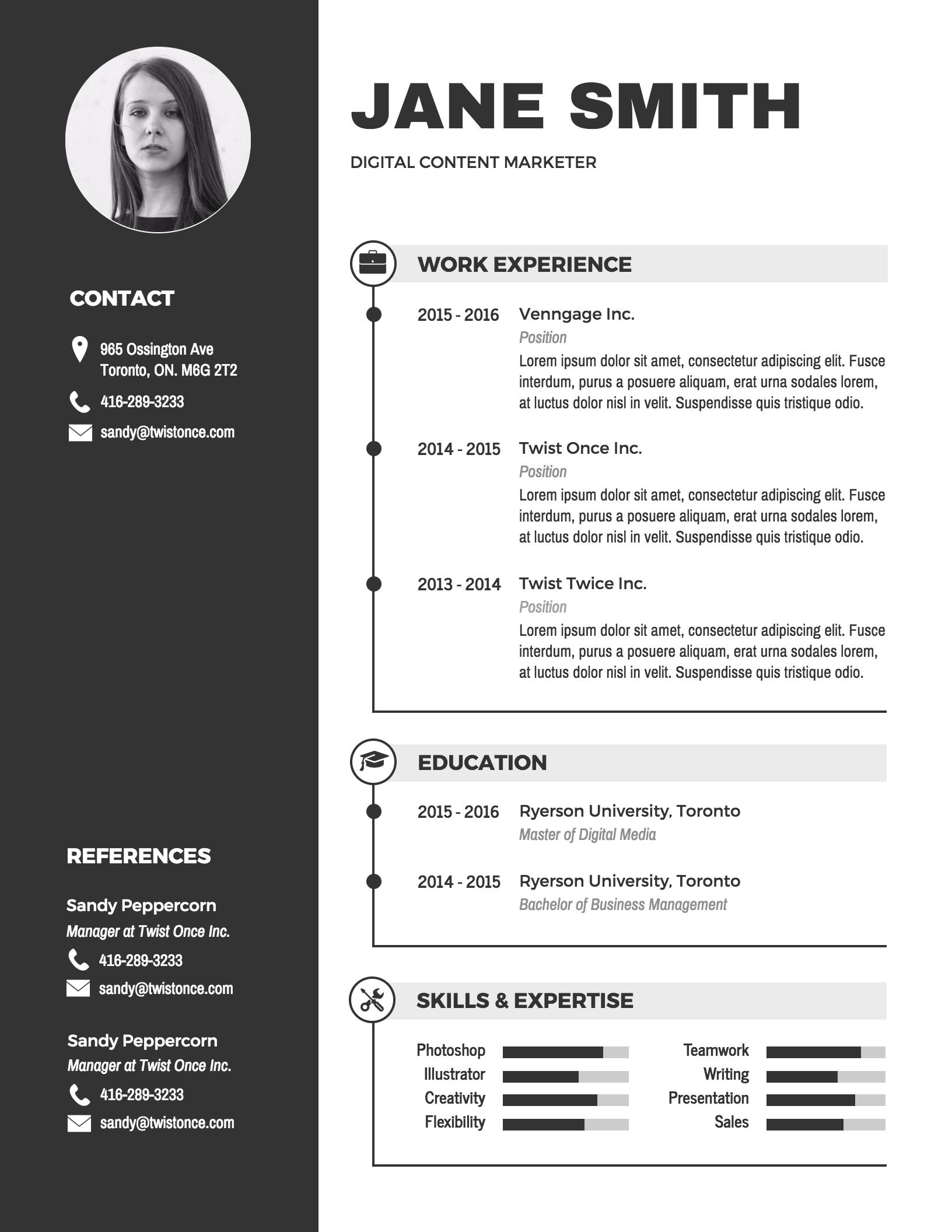 27 Lovely Graphic Resume Template by Images