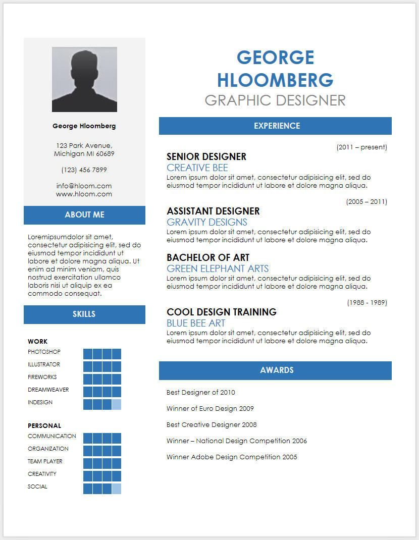 27 Nice Free Microsoft Office Resume Templates by Pictures