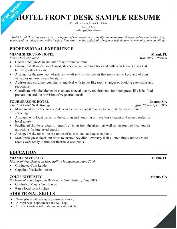 27 Stunning Medical Front Desk Resume for Gallery