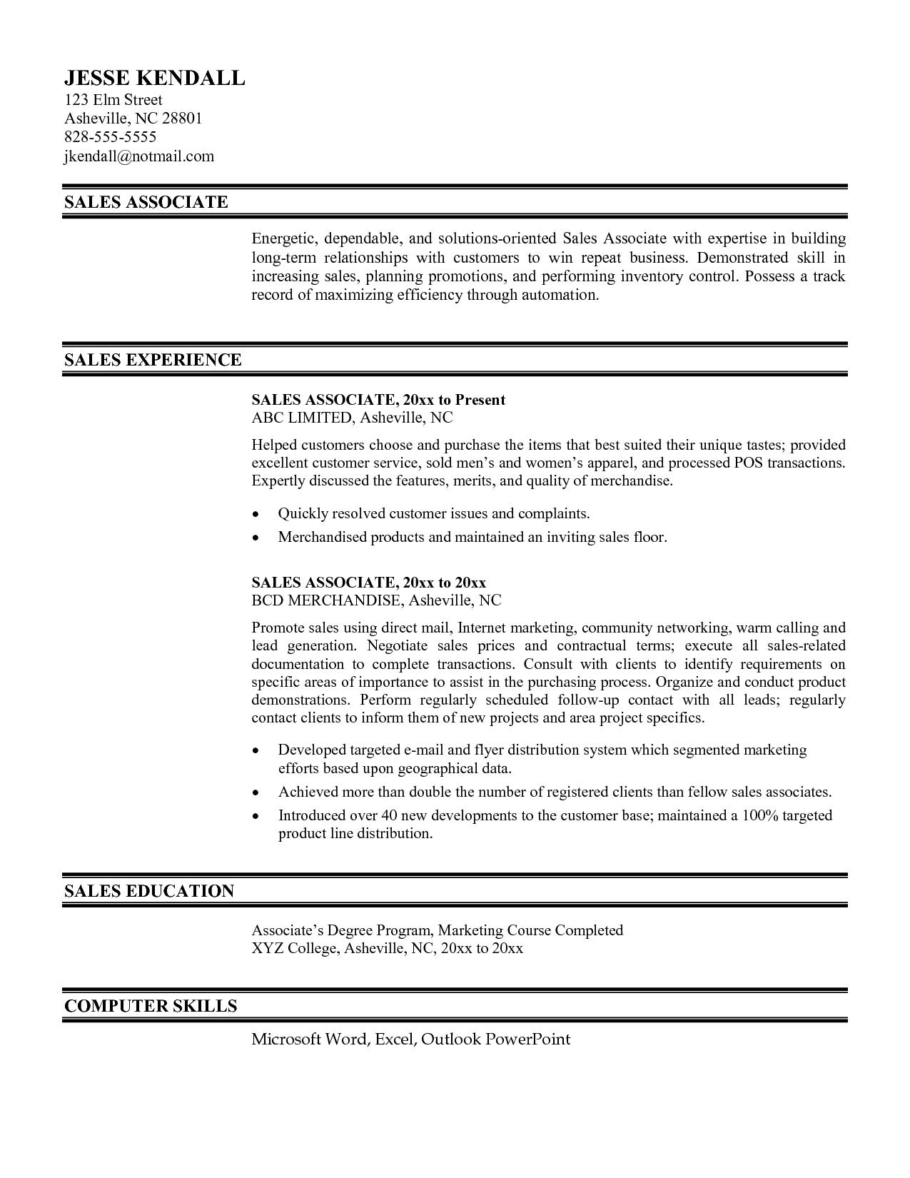 28 Awesome Best Sales Resume Examples 2018 by Gallery