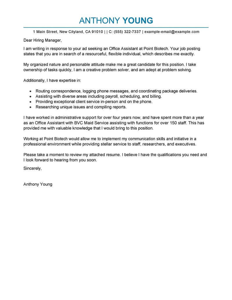 28 Awesome Executive Assistant Cover Letter for Ideas