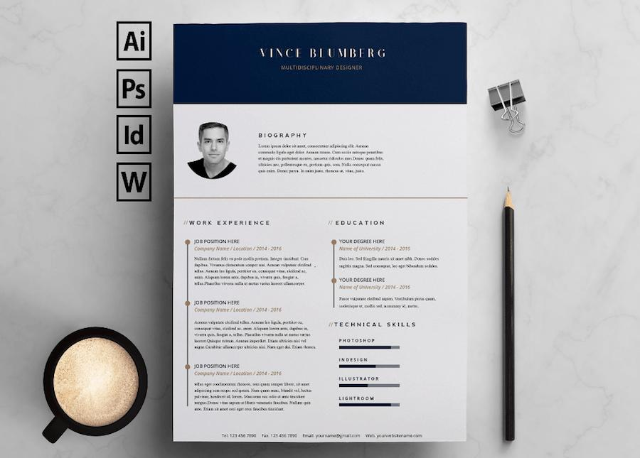 28 Beautiful Free Creative Resume Templates Microsoft Word with Ideas