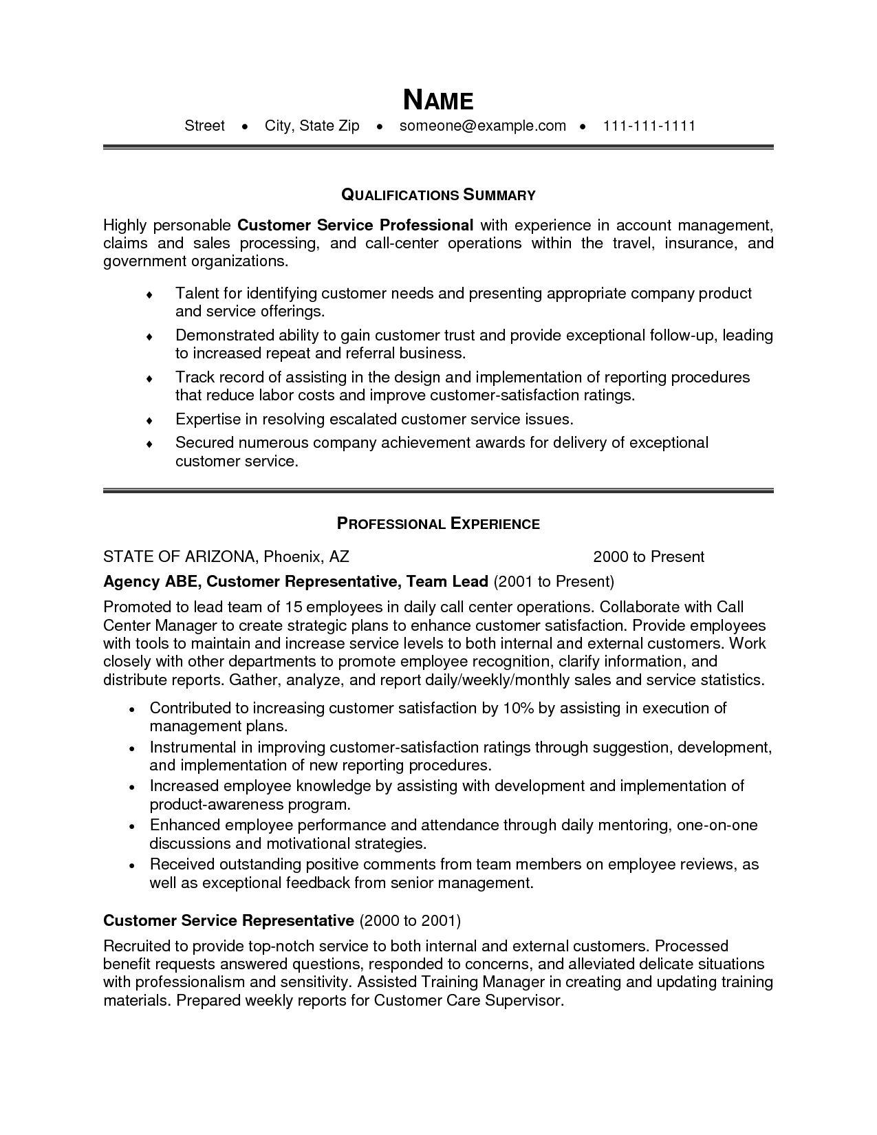 28 Cool Customer Service Resume Objective Or Summary Examples with Pictures
