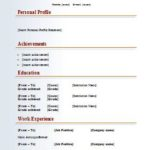 28 Cool Free Simple Resume Format by Gallery
