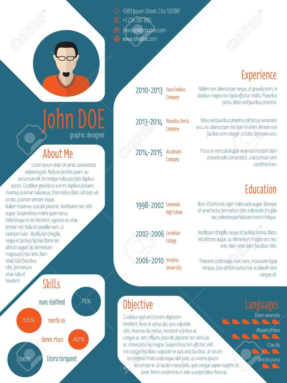 28 Stunning Modern Curriculum Vitae with Pictures