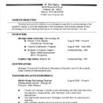 29 Stunning Experienced Teacher Resume Examples for Gallery