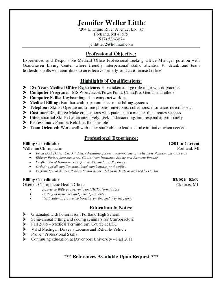 30 Awesome Medical Front Desk Resume with Ideas