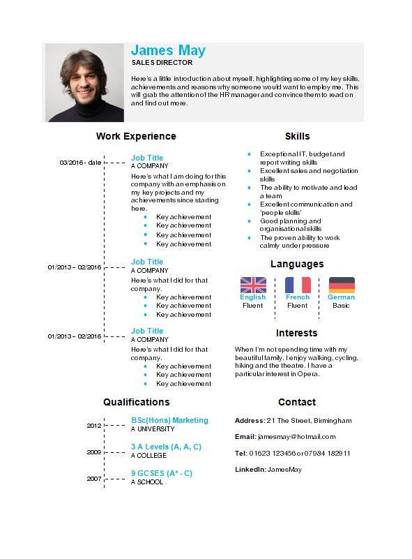 30 Beautiful Professional Cv Format In Ms Word by Gallery