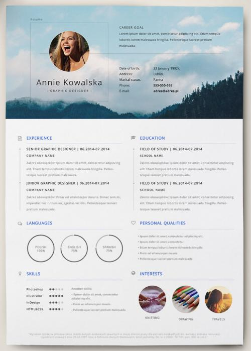 30 Cool Great Looking Resume Templates with Pictures