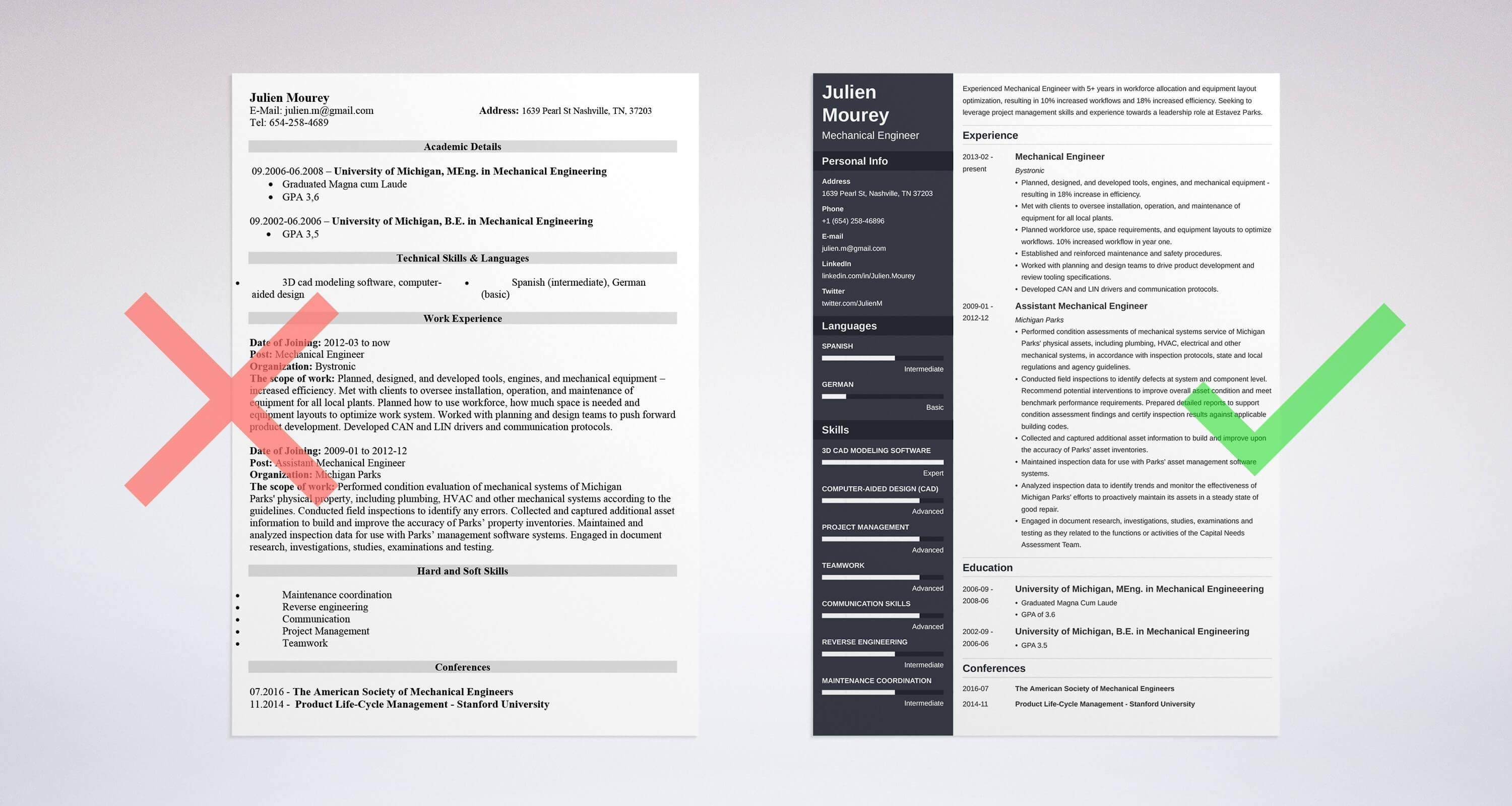 30 Fresh Mechanical Engineer Resume Sample by Ideas