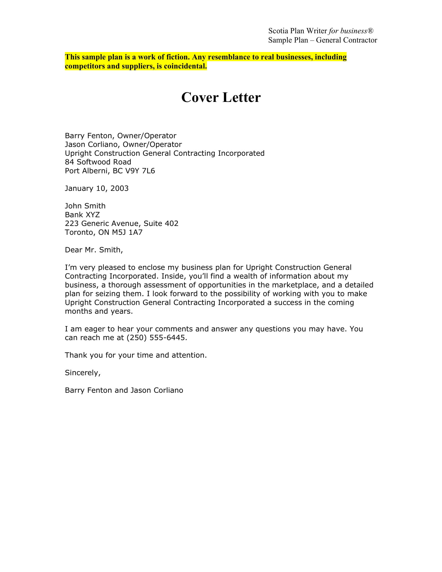 30 Great Proposal Cover Letter Sample by Pics