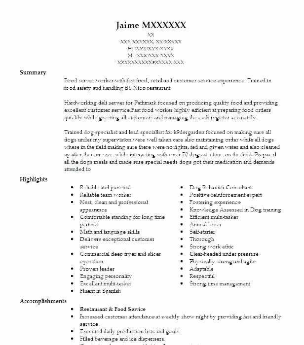 31 Beautiful Busboy Resume for Pictures