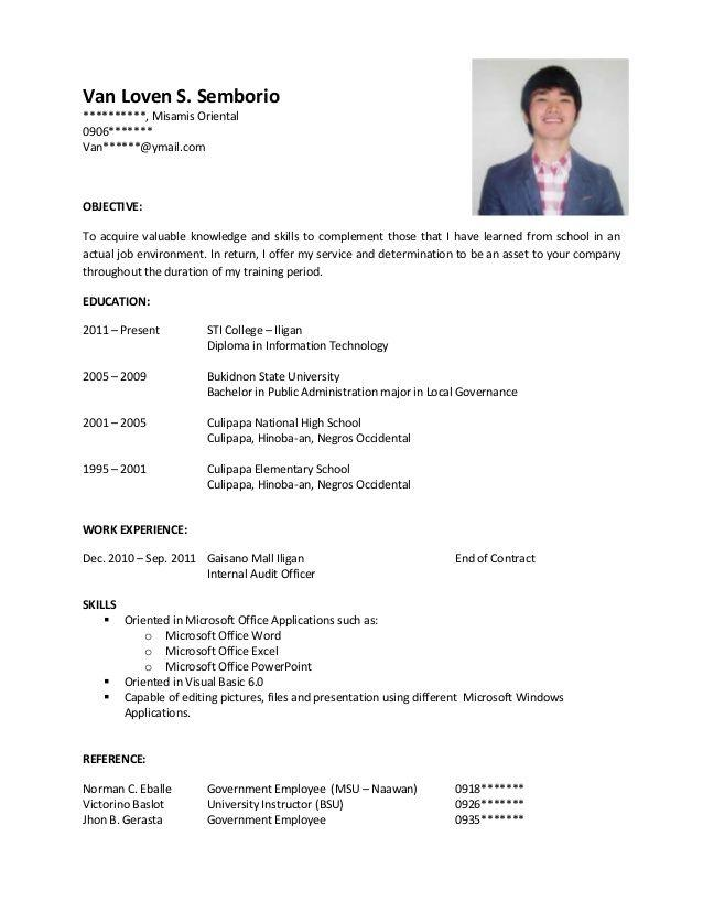 31 Best Sample Resume Format for Gallery