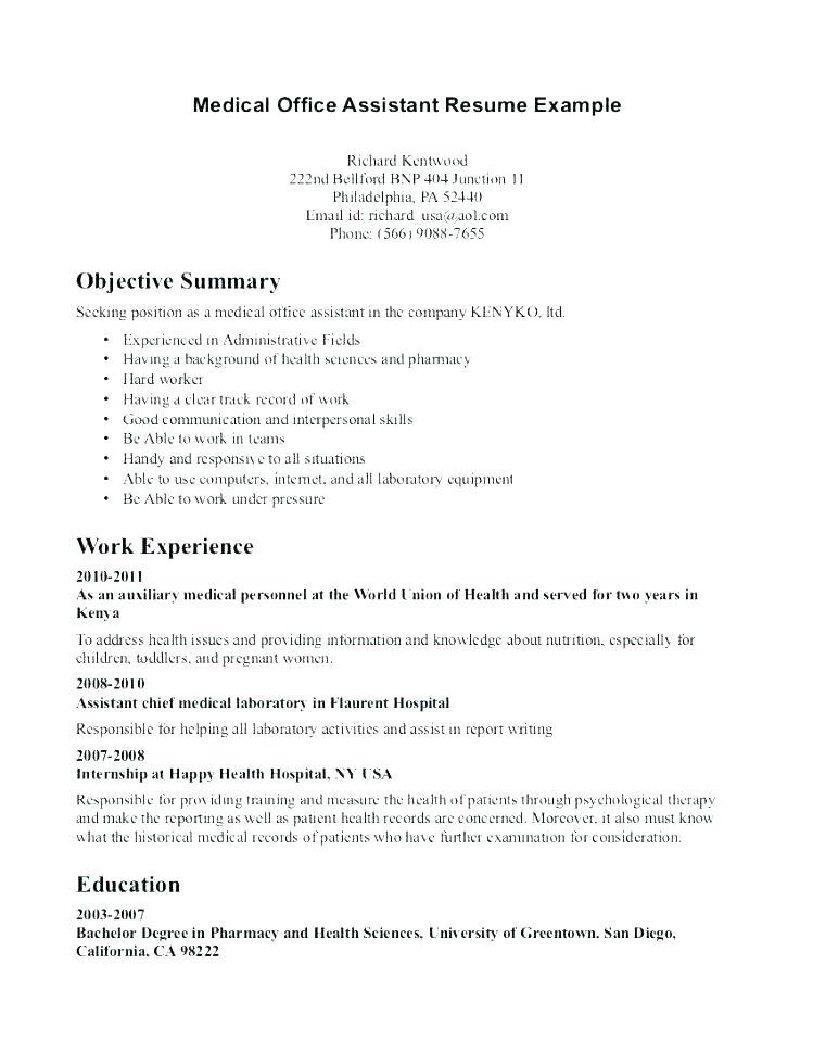32 Best Medical Front Desk Resume with Images