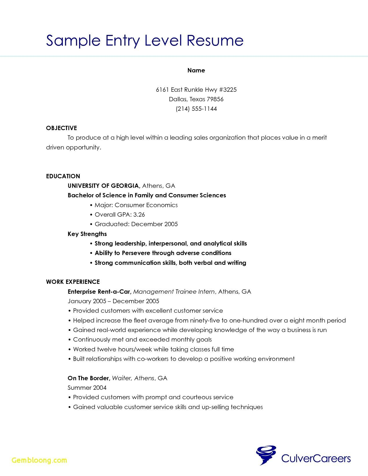 32 Excellent Beginner Resume Template with Images