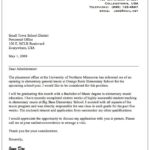 32 Fresh Education Cover Letter with Images
