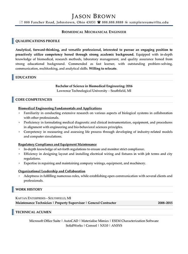 32 Great Mechanical Engineer Resume Sample with Graphics