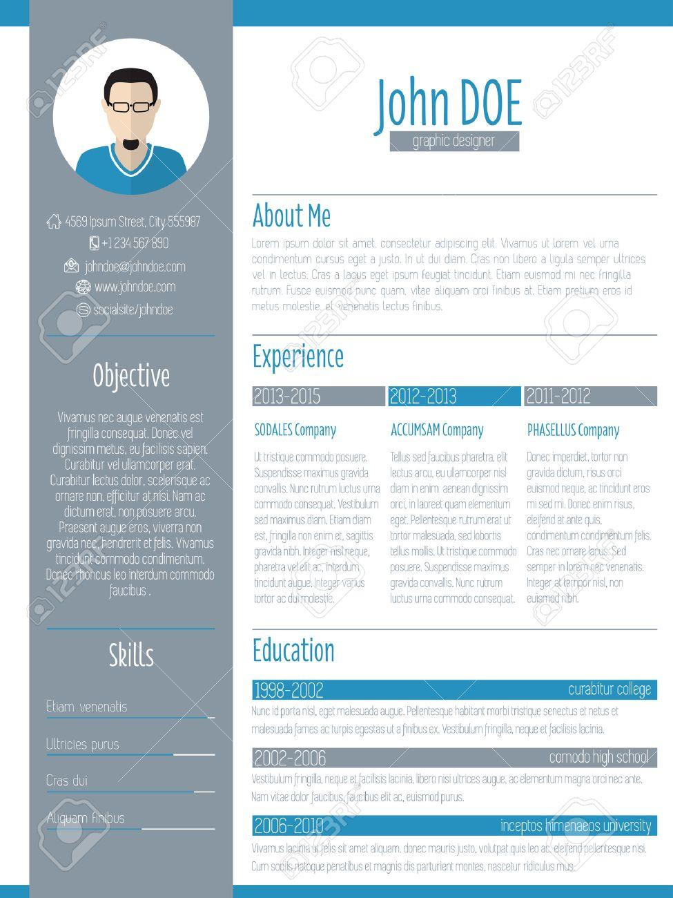 32 Stunning Modern Curriculum Vitae for Pictures