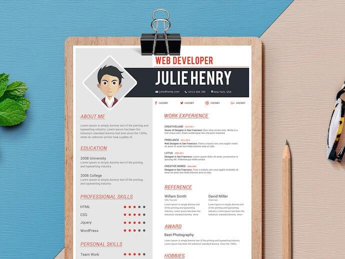 33 Cool Free Creative Resume Templates Microsoft Word for Design
