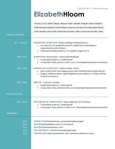 33 Fresh Modern Day Resume for Ideas