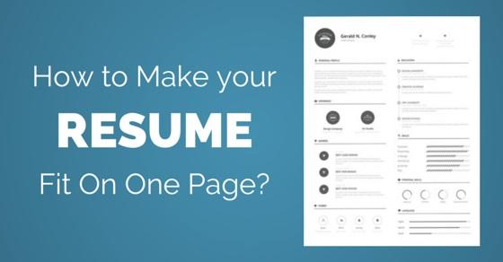 33 Lovely How To Make Resume Fit On One Page for Pictures