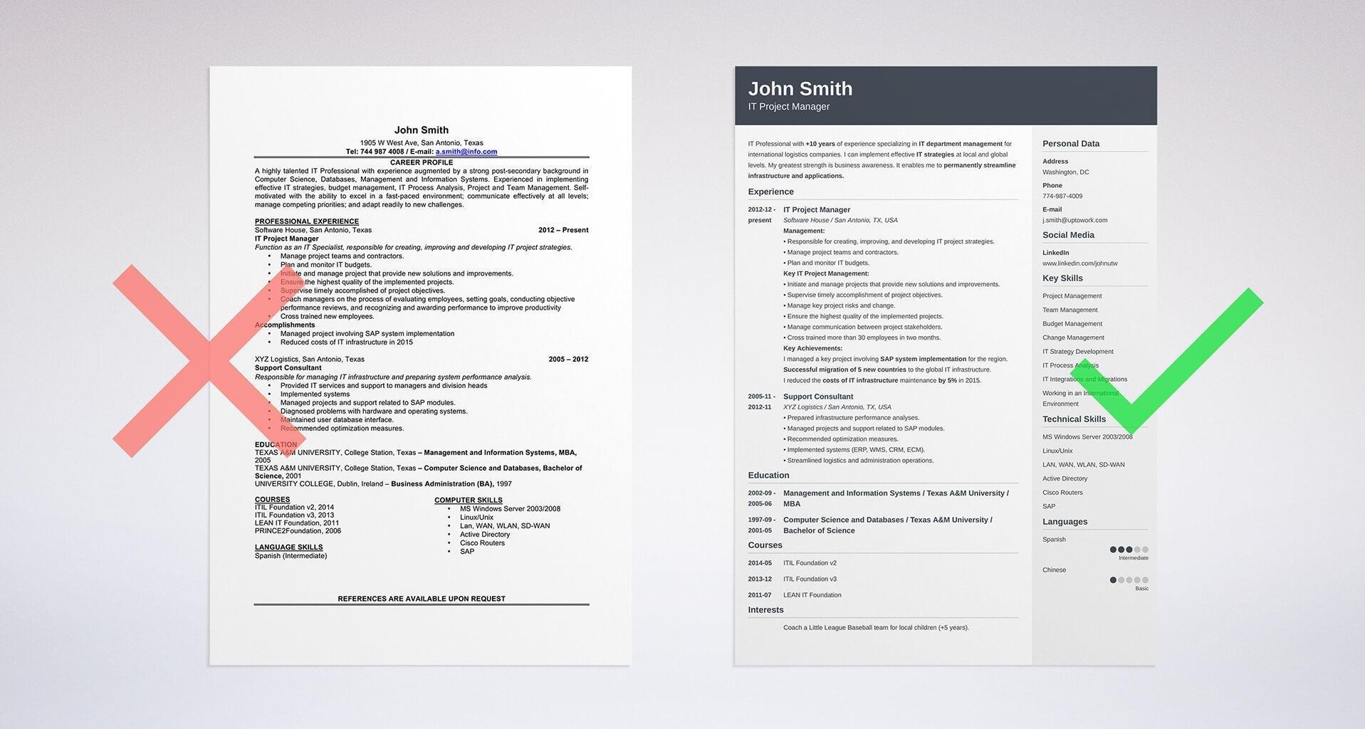 33 Lovely Resume Format Examples with Design