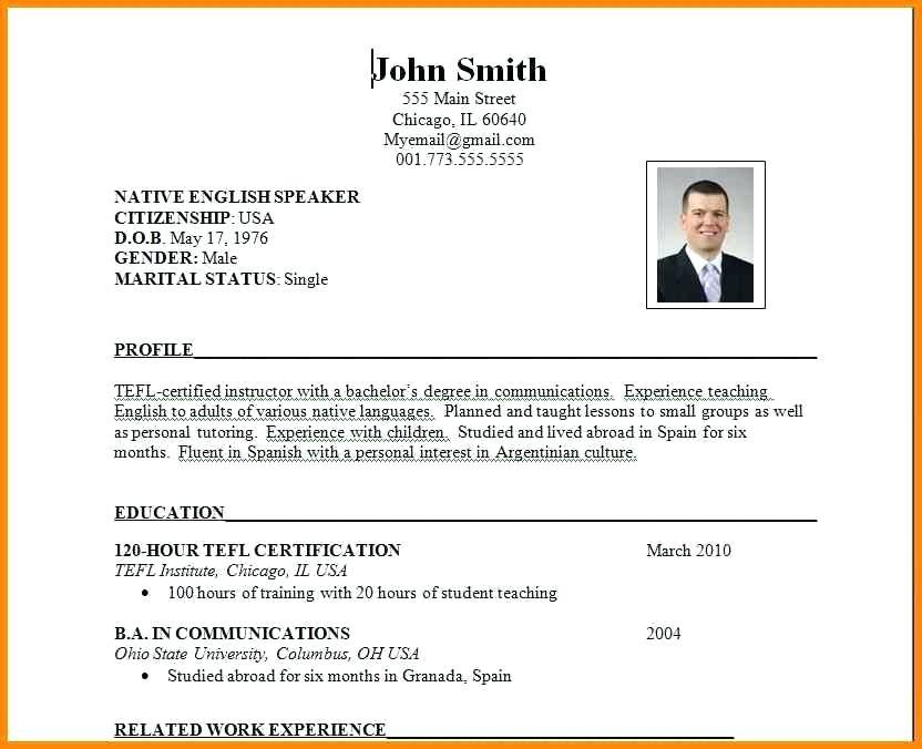 33 Top Sample Resume Format by Pics
