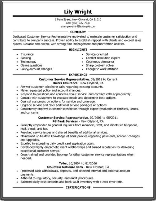 34 Excellent Good Resume Sample for Pics