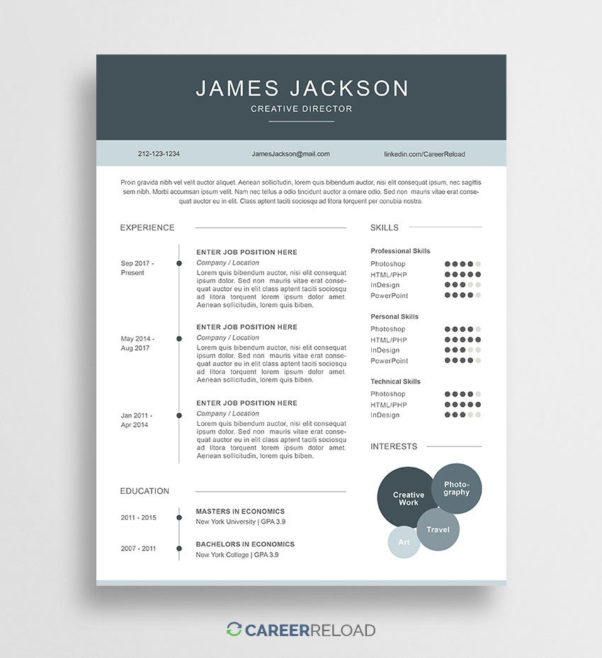 34 Fresh Where Can I Get Free Resume Templates for Images