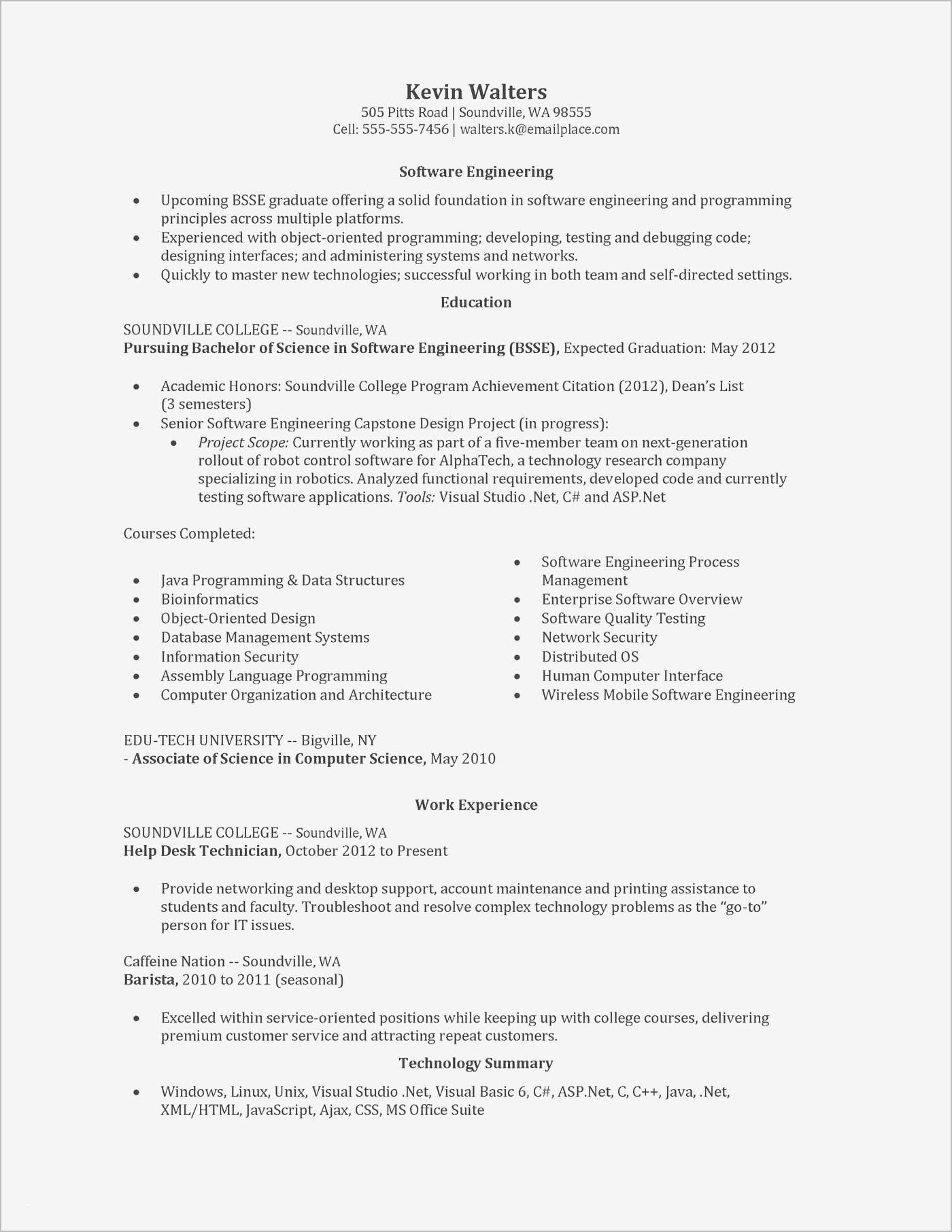 34 Great Entry Level Software Engineer Resume with Pictures