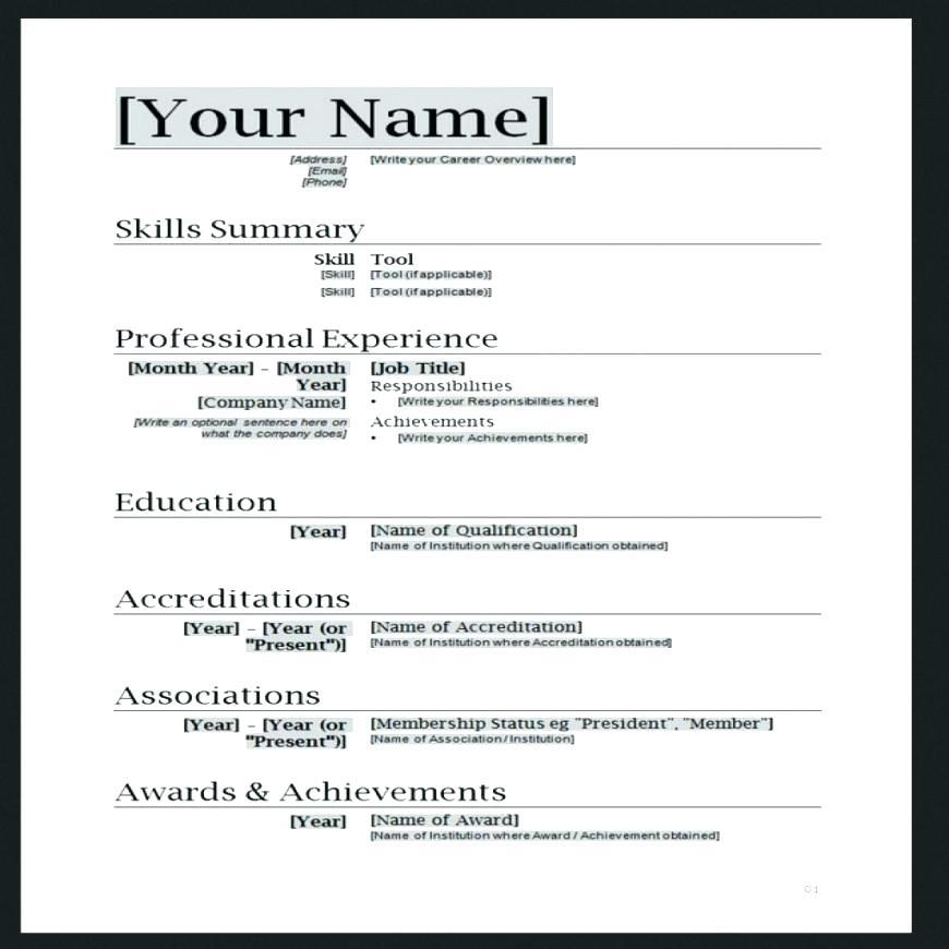 35 Awesome Simple Resume Template Word with Pictures