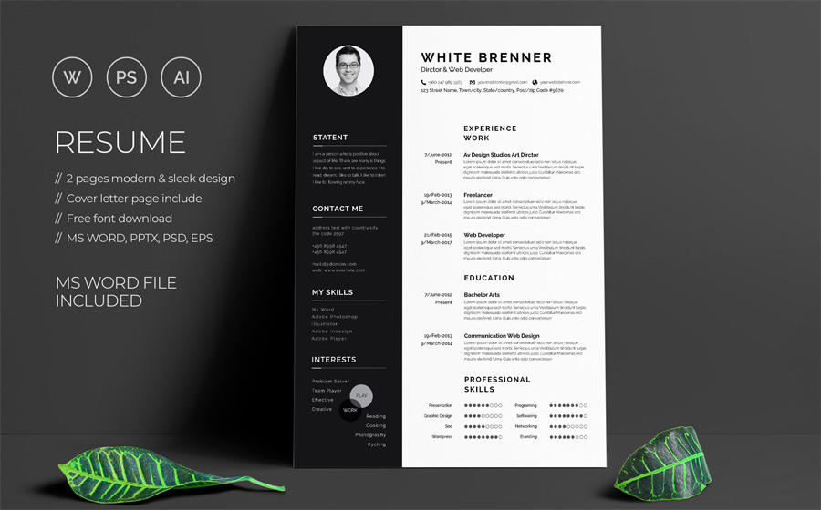 35 Best Free Pages Resume Templates by Gallery